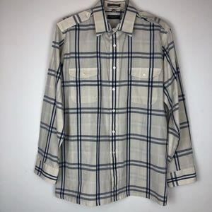 Christian Dior Button Down Flannel Shirt